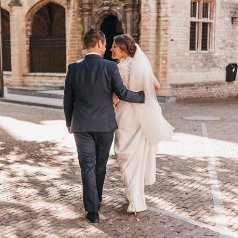 bruid en bruidegom foto middelburg