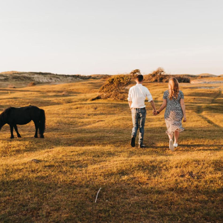 Fotoshoot koppel en paard