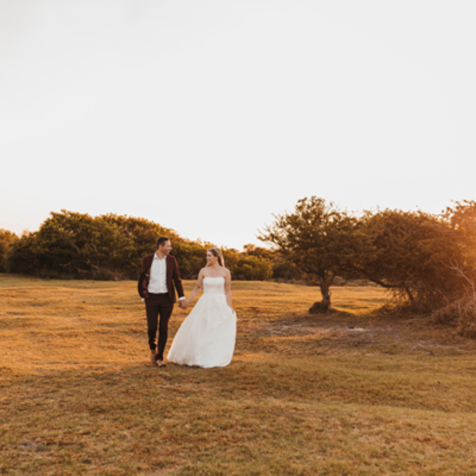 trouwfotograaf zonsondergang