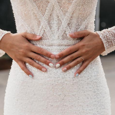 nagels close-up bruid