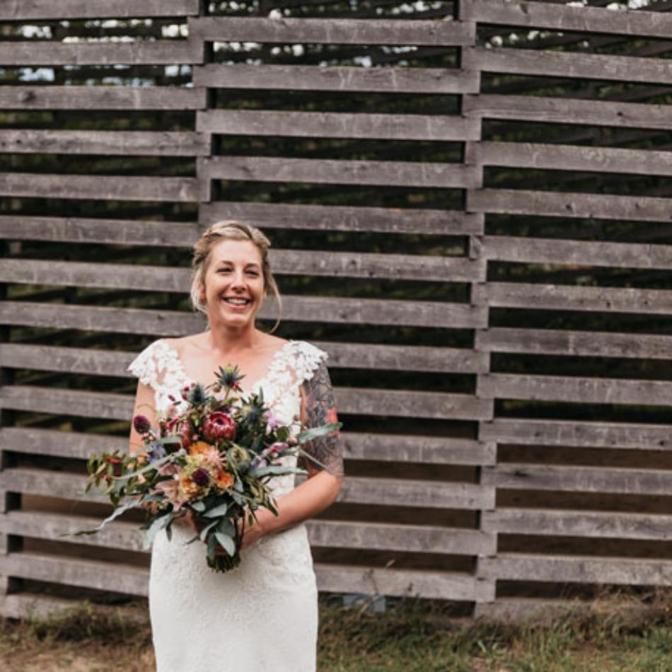 bruid portretfoto zeeland