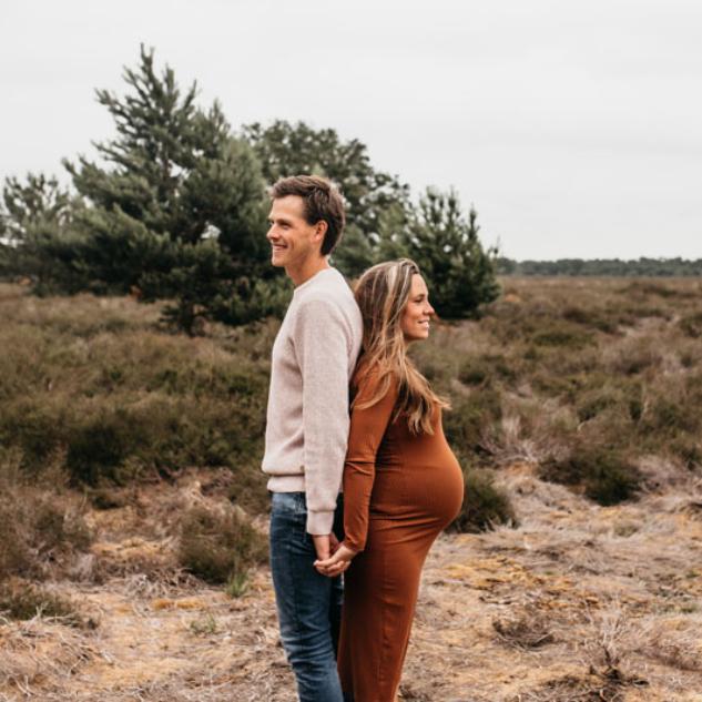 zwangerschaps fotoshoot heide