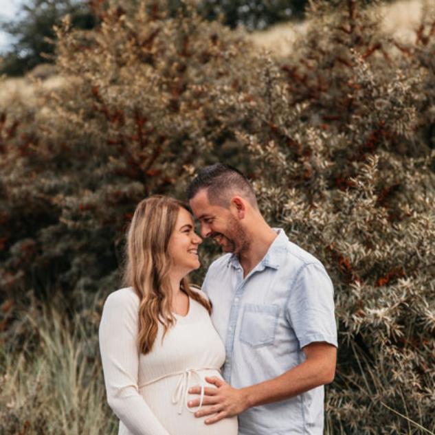 zwangerschapsfotoshoot romantisch