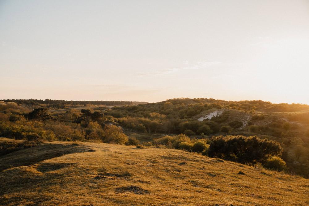 Fotoshoot tijdens zonsondergang